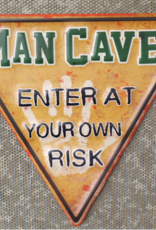 Metal Triangle Sign - Man Cave