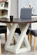 Painted Z Round Dining Table