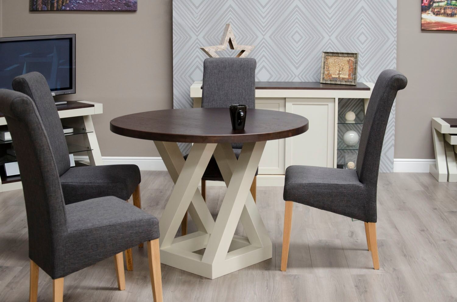 HomestyleGB Painted Z Round Dining Table