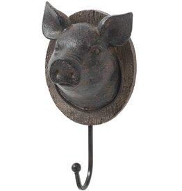 Hill Interiors Pigs Head Coat Hook
