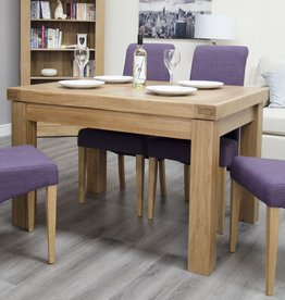 Bordeaux Solid Oak Small Extending Dining Table
