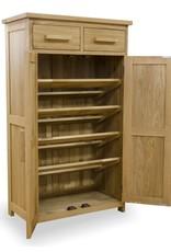 HomestyleGB Opus Oak Shoe Cupboard