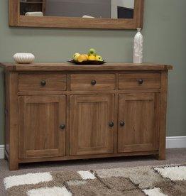Rustic Oak Large Sideboard