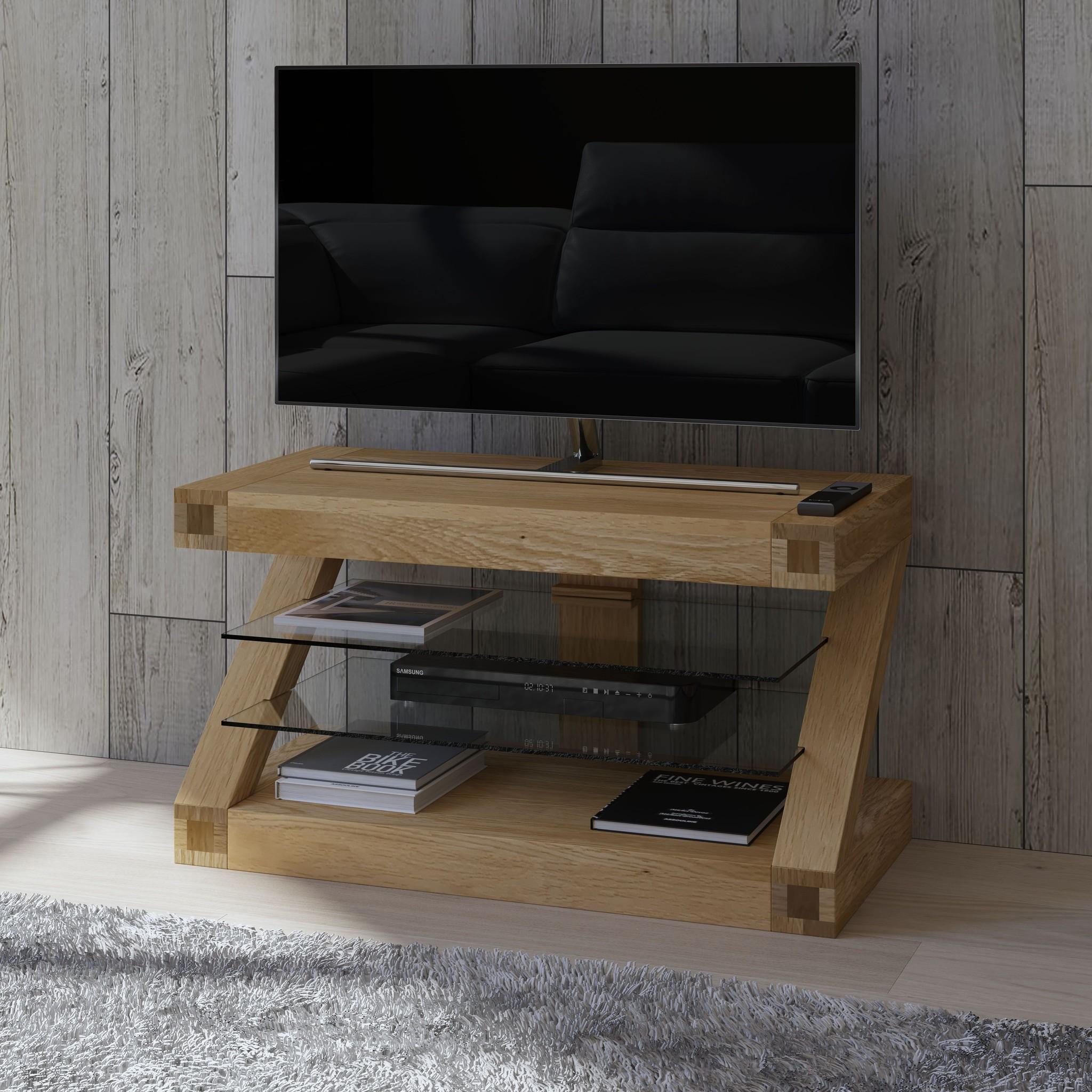 HomestyleGB Z Designer Solid Oak TV Unit