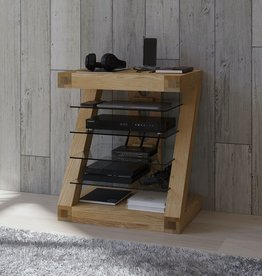 Z Designer Solid Oak HiFi Unit