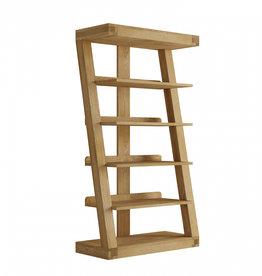 Z Designer Solid Oak Large Bookcase