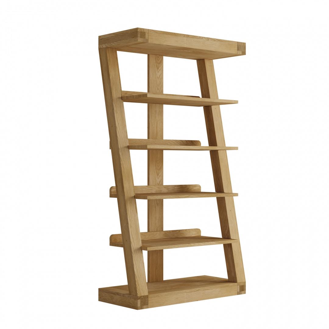 HomestyleGB Z Designer Solid Oak Large Bookcase