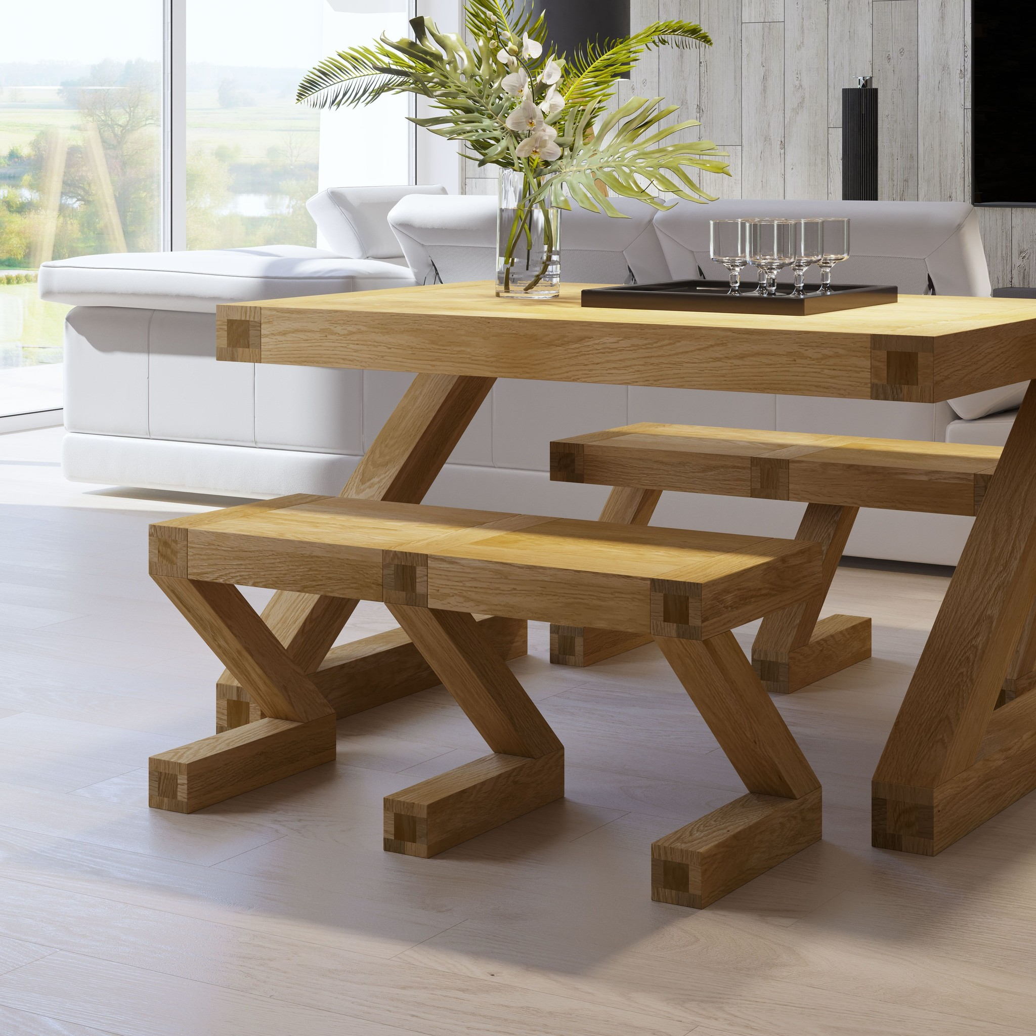 Contemporary Oak Small Dining Table