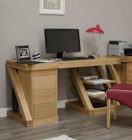 Z Designer Solid Oak Large Desk