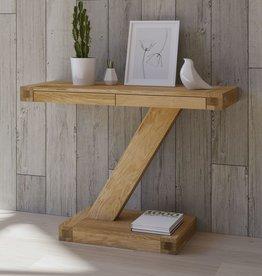 Z Designer Solid Oak Modern Console Table