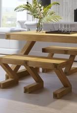 HomestyleGB Z  Designer Solid Oak Small Bench