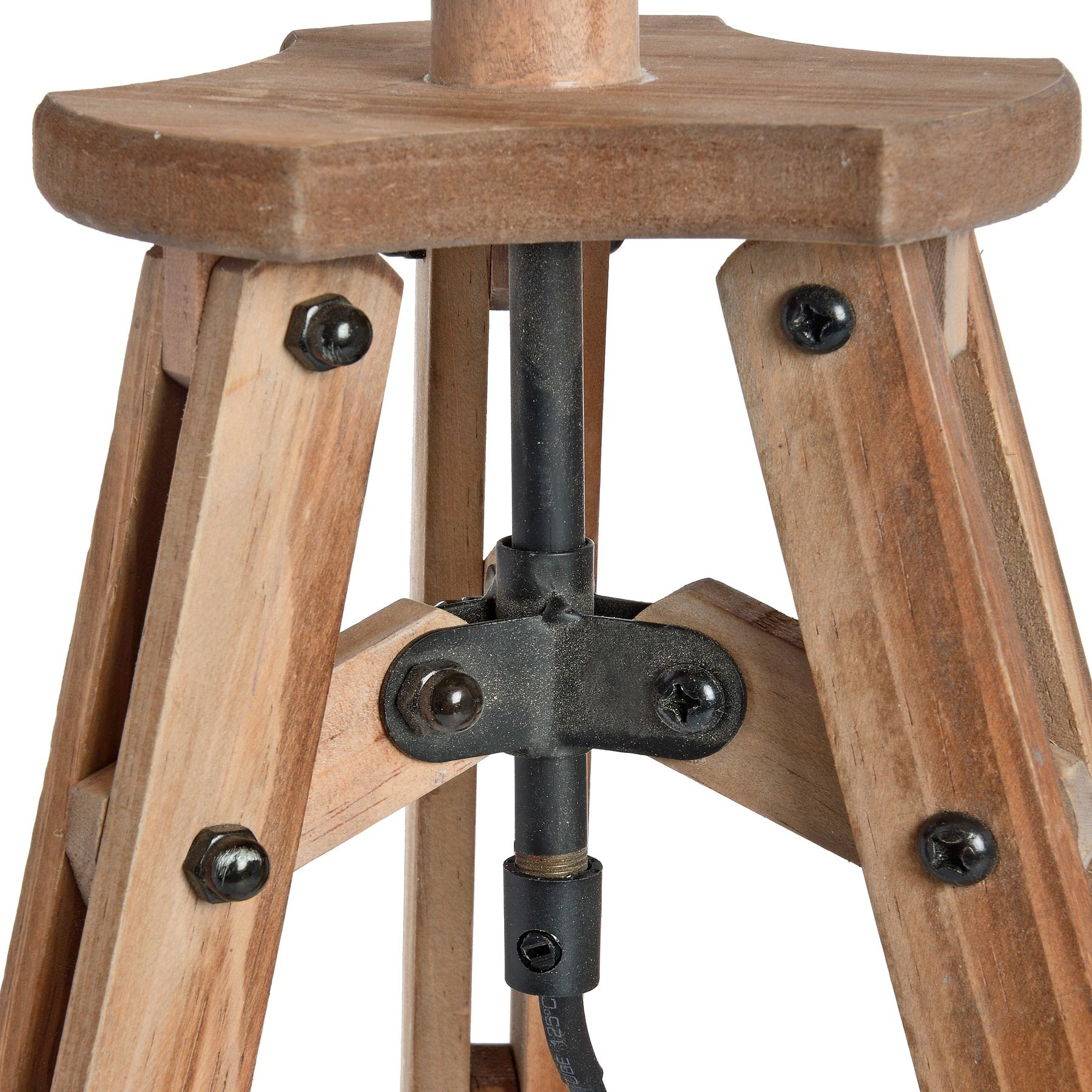 Hill Interiors Wooden Tripod Table Lamp