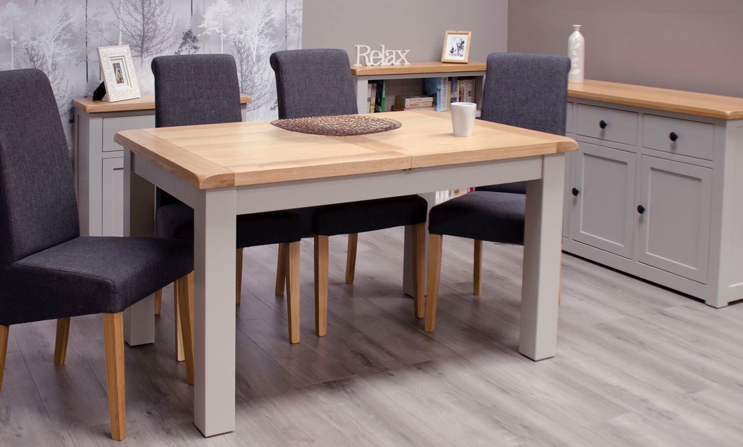 Diamond Painted Small Extending Dining Table