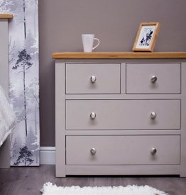 Diamond Painted 2+2 Drawer Chest