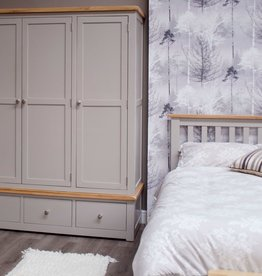 Diamond Painted Triple Wardrobe