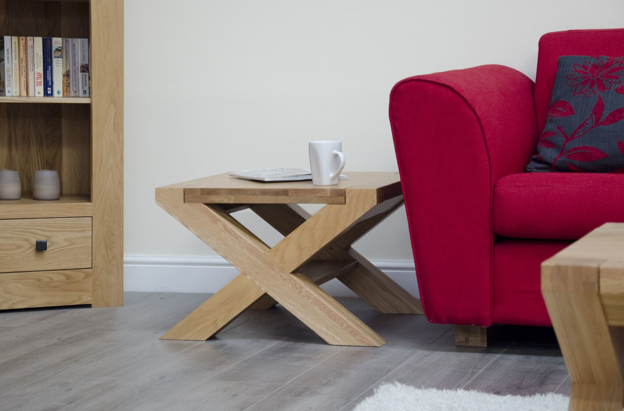 HomestyleGB Trend Oak X - Leg 2 x 2 Coffee Table