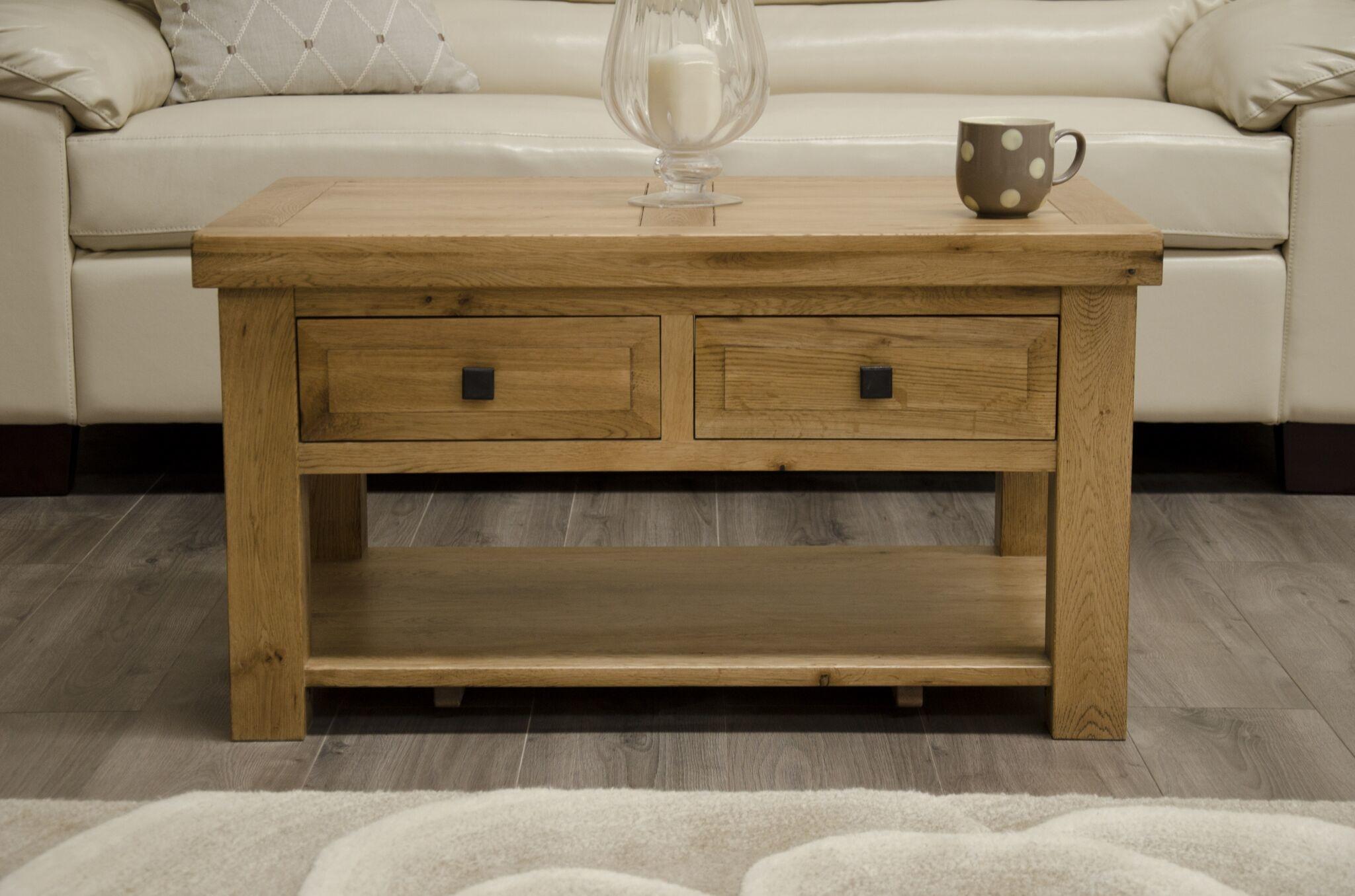Deluxe Oak 3 x 2 Coffee Table