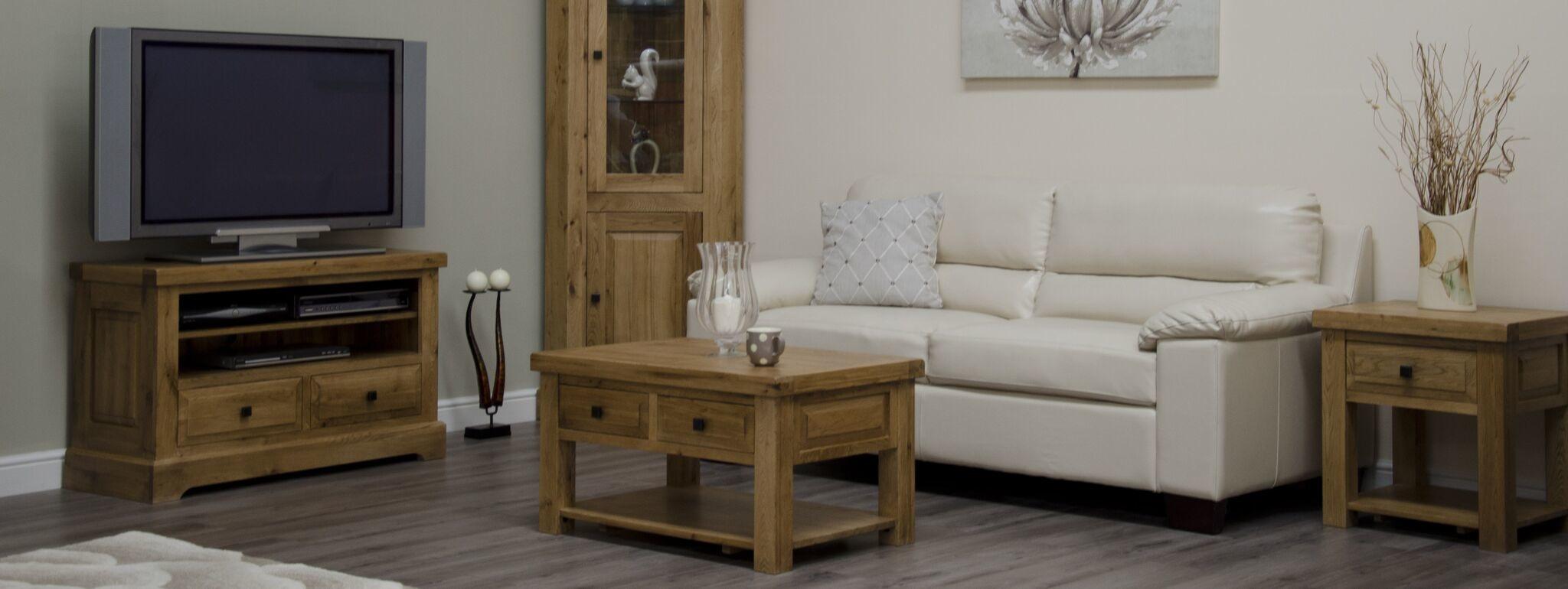 HomestyleGB Deluxe Oak 3 x 2 Coffee Table