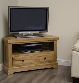 HomestyleGB Deluxe Oak Corner TV Unit