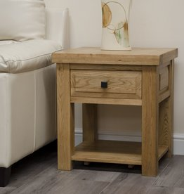 HomestyleGB Deluxe Oak Lamp Table