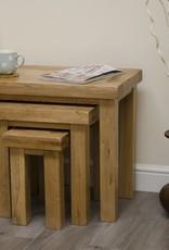 HomestyleGB Deluxe Oak Nest of Tables