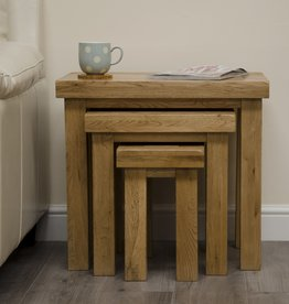 HomestyleGB Deluxe Oak Nest of Tables