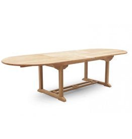 Teak Oval Extending Table - 240 CM