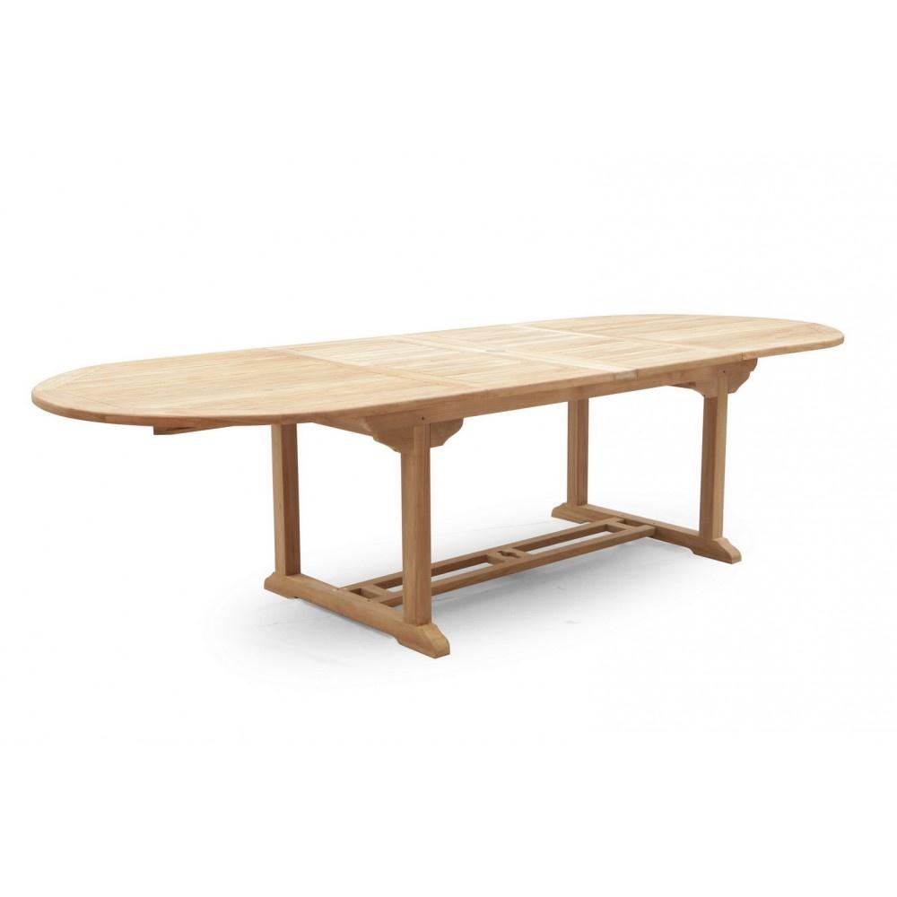 Teak Oval Extending Table - 240 CM