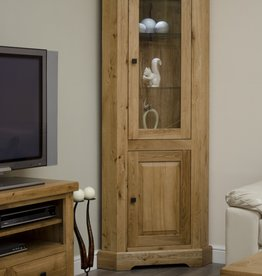 Deluxe Oak Corner Display Unit