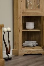 HomestyleGB Deluxe Oak Corner Display Unit