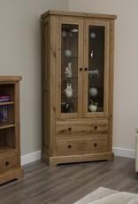 HomestyleGB Deluxe Oak Glass Display Unit