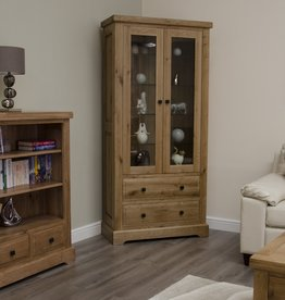 HomestyleGB Deluxe Oak Glass Display Unit