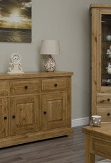 Deluxe Oak Glass Display Unit