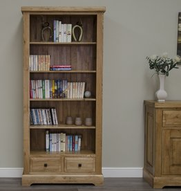 HomestyleGB Deluxe Oak Large Bookcase