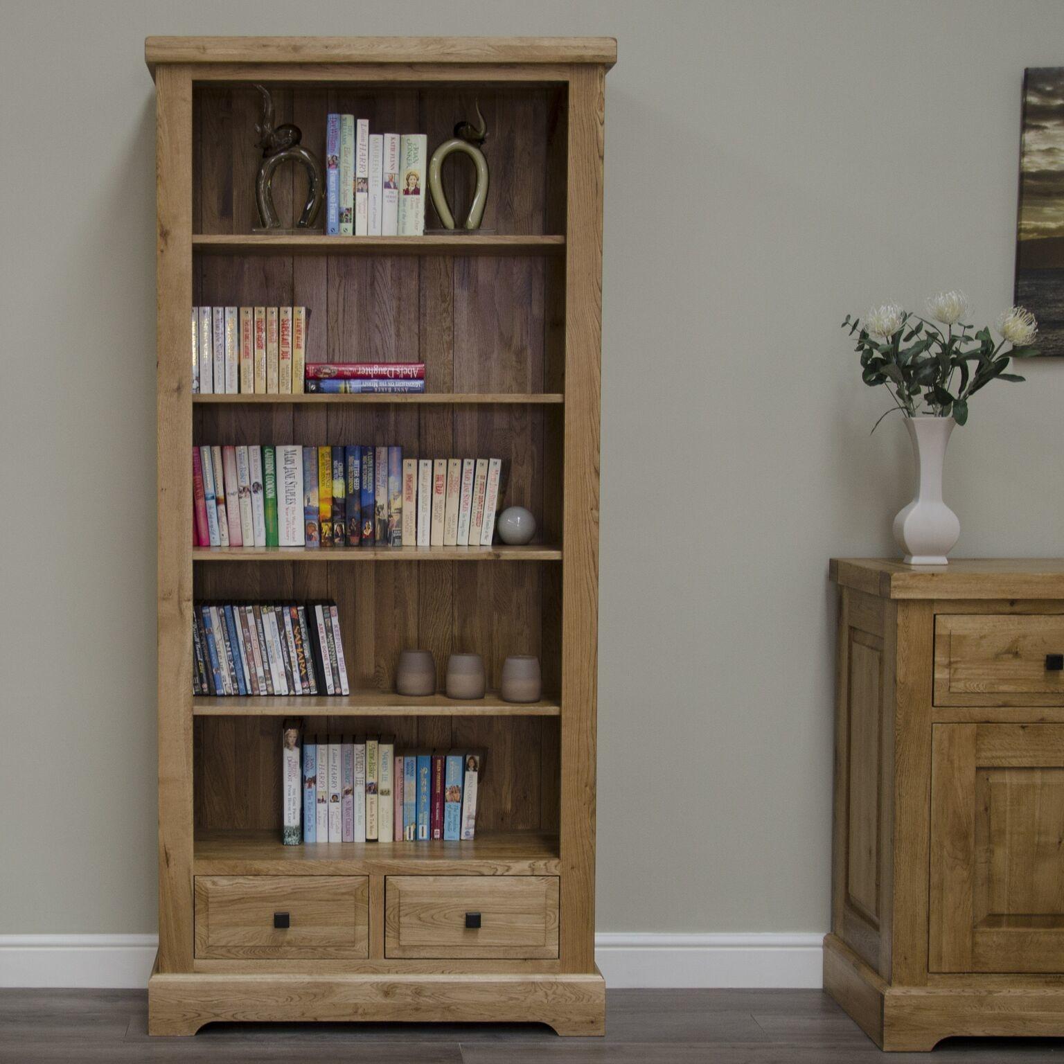 HomestyleGB Deluxe Oak Large Bookcase