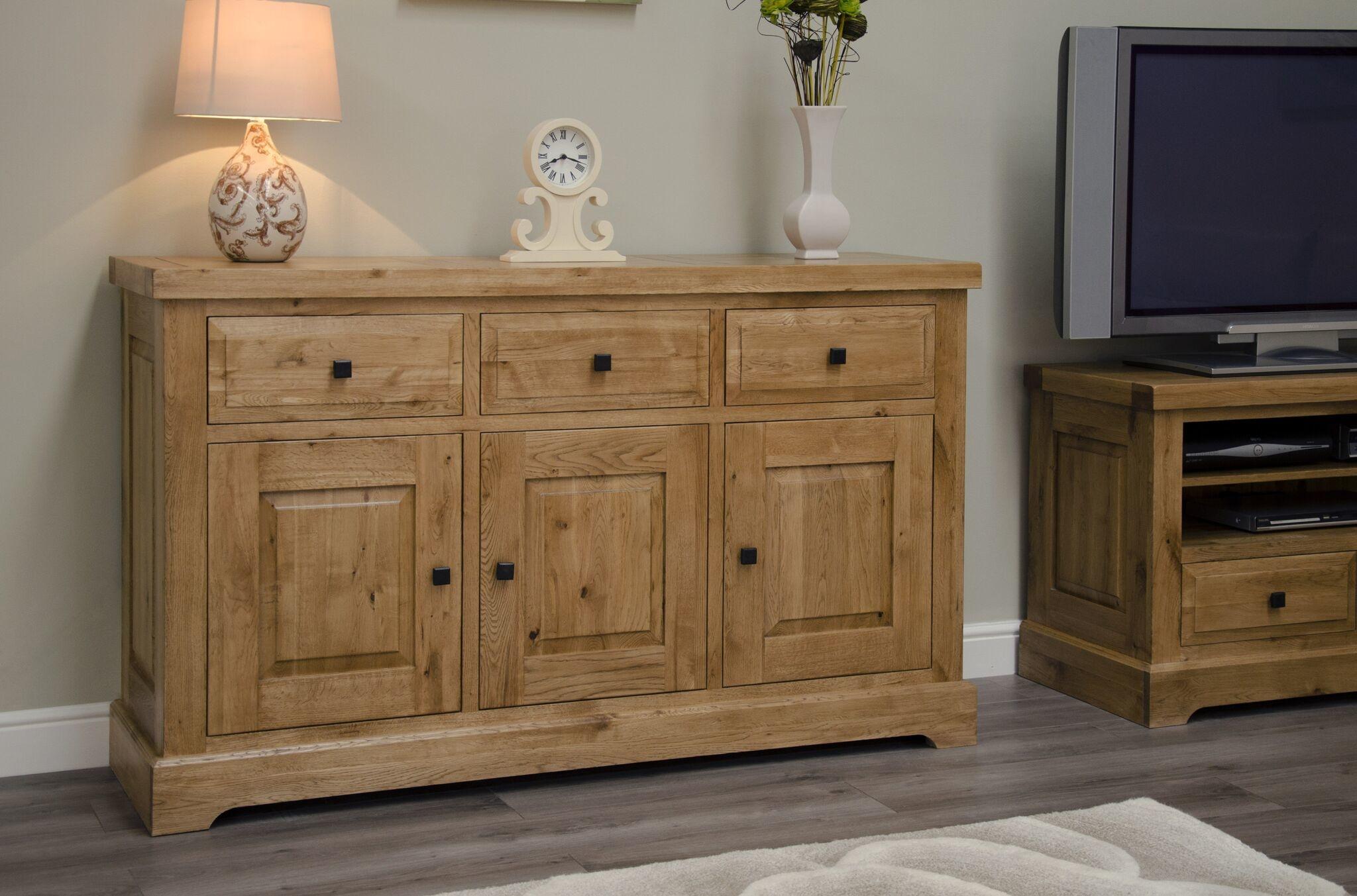 HomestyleGB Deluxe Oak Large Sideboard