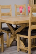 Deluxe Oak Ladder Back Dining Chair - Pair