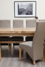 HomestyleGB Deluxe Oak Super X Leg Extending Dining Table