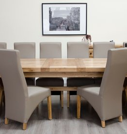 Deluxe Oak Super X Leg Extending Dining Table