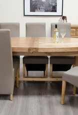 HomestyleGB Deluxe Oak Super Oval Extending Dining Table