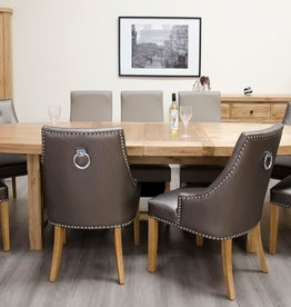 HomestyleGB Deluxe Oak Super Oval Extending Dining Table