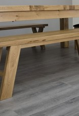 HomestyleGB Deluxe Oak Dining Bench