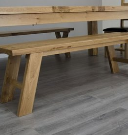 Deluxe Oak Dining Bench