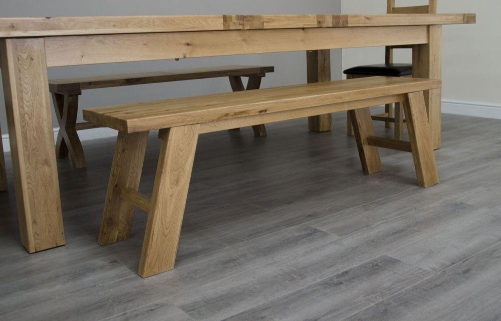 Deluxe Oak Dining Bench