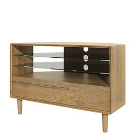 HomestyleGB Scandic Oak Corner TV Unit