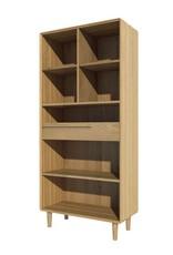 HomestyleGB Scandic Oak Large Bookcase
