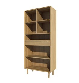 HomestyleGB Scandic Oak Large Bookcase