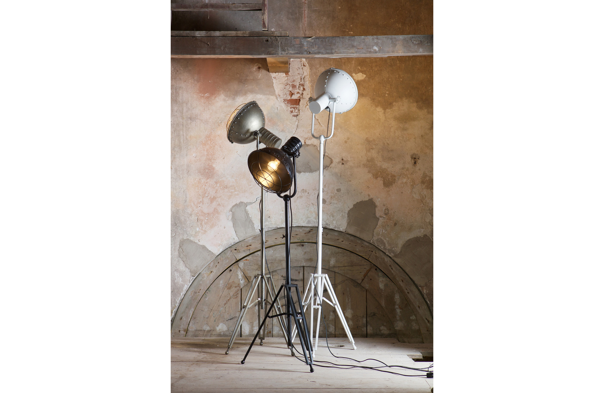BePureHome Spotlight Floor Lamp - White