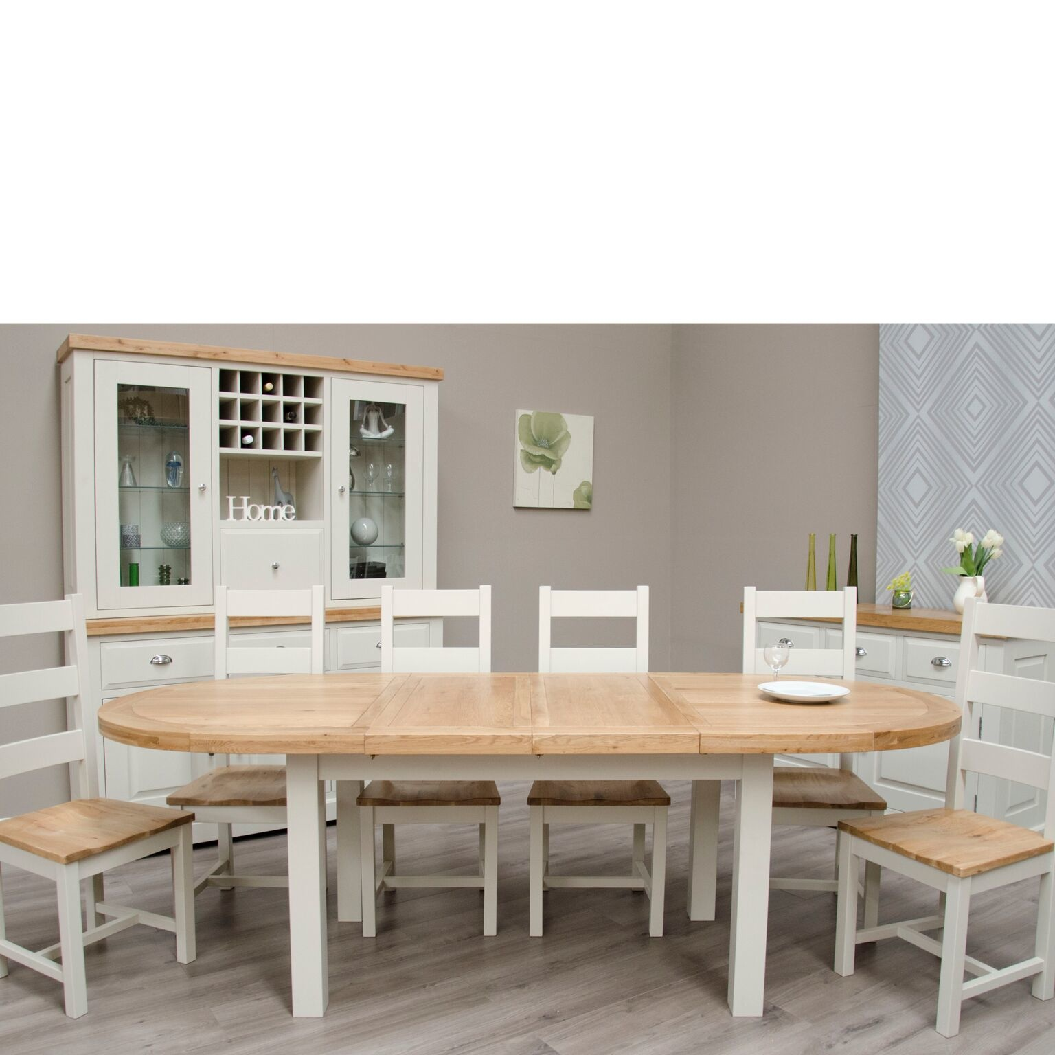 HomestyleGB Painted Deluxe Oval Extending Table