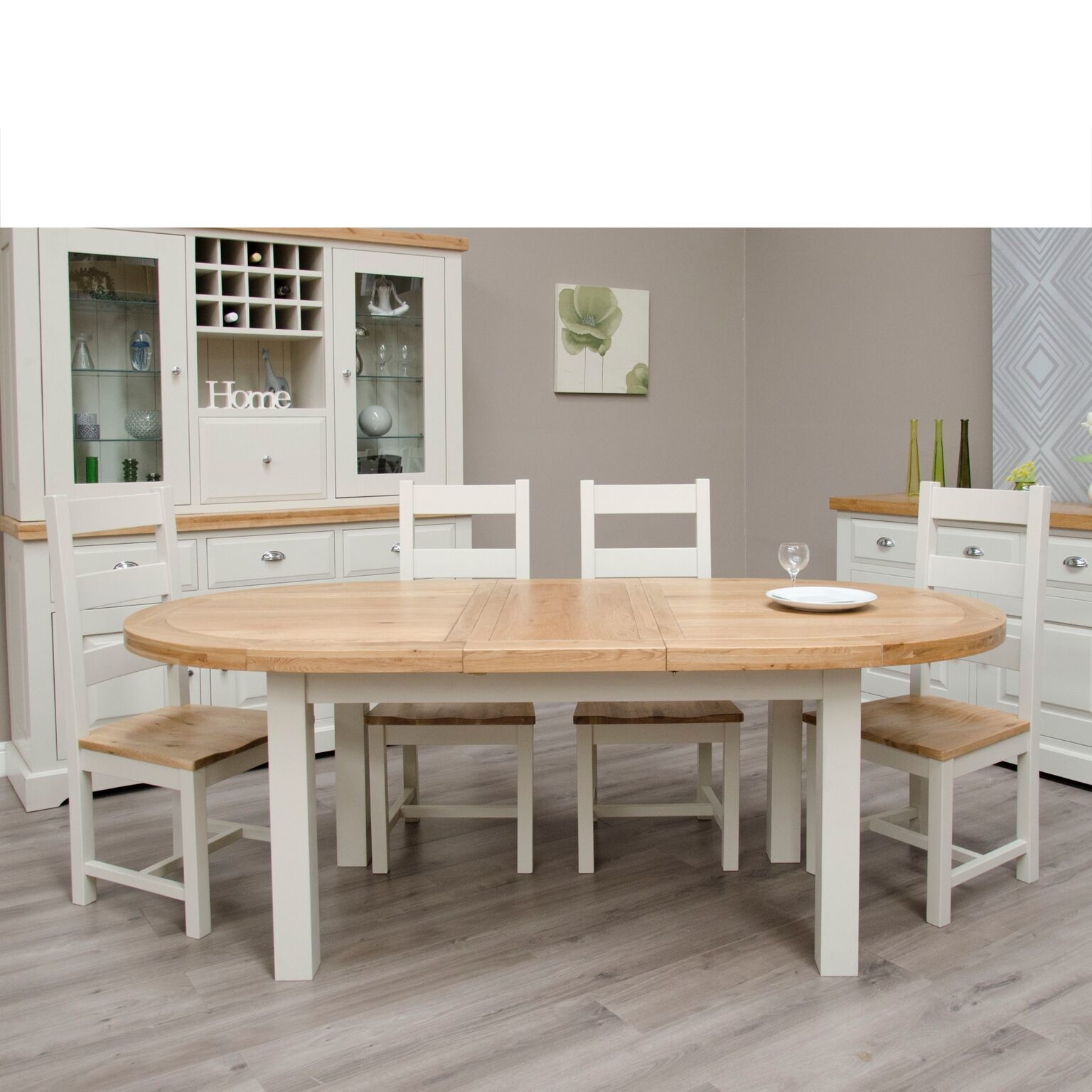 Painted Deluxe Oval Extending Table